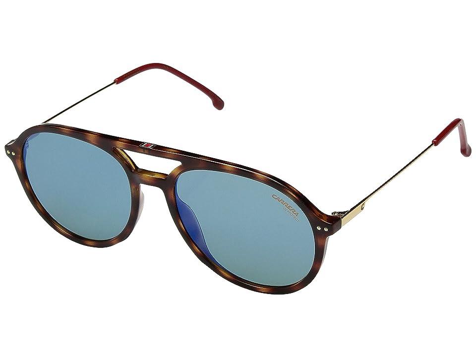 Carrera Carrera 2005T/S (Dark Havana/Green Blue Mirror) Fashion Sunglasses