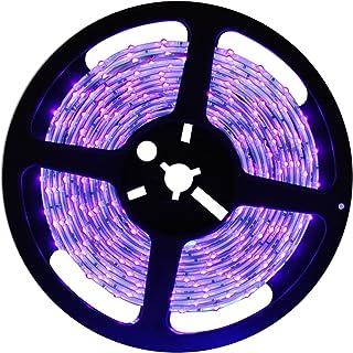 DeepDream Black Light UV Led Strip 16.4Ft/5M 24W Flexible Waterproof IP65 with 12V 2A Power Supply