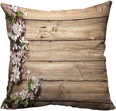 Amazon.com: YouXianHome - Funda de almohada de madera ...