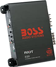 BOSS Audio Systems Elite R1004 4 Channel Car Amplifier - 400 Watts, Full Range, Class AB, 2-4 Ohm Stable, Great for Car Speakers and Car Stereo