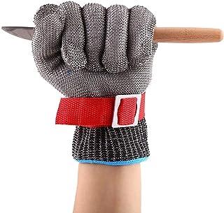 Yosoo - Guanto in acciaio INOX con protezione antitaglio per il braccio, strumento di sicurezza adatto per giardinaggio e lavori in macelleria, in vetreria e in fabbrica, multicolore