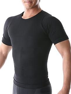 SPORTIA 加圧シャツ 加圧インナー コンプレッションウェア 補正下着 ダイエット 半袖 メンズ 3カラー