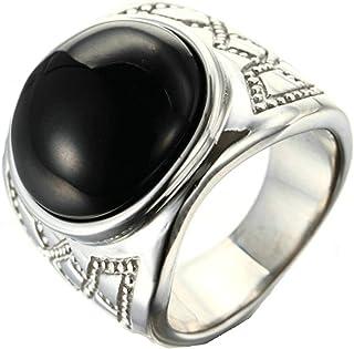 Adisaer Goldring męski złoty pierścionek z motywem wikingów i piłki, okrągły kamień, zielony kamień, cyrkonia, gotycki sty...