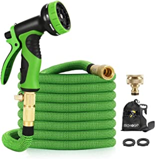 """15M Garden Hose - ALL NEW Expandable Garden Hose with Double Latex Core, 3/4"""" Solid Brass Fittings, Australian Standard Un..."""
