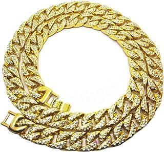 BESTOYARD Hip Hop Necklace Hip Hop Jewelry Rapper Necklace Gothic Hip Hop Chunky Chain Rhinestones Diamonds Cuban for Men ...