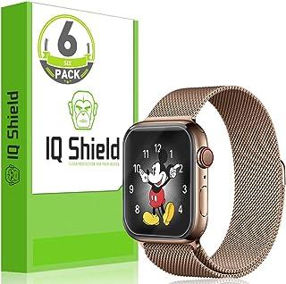 واقي شاشة IQ Shield متوافق مع Apple Watch Series 4 (40 مم) (6 عبوات) (سهل التركيب) طبقة شفافة مضادة للفقاعات