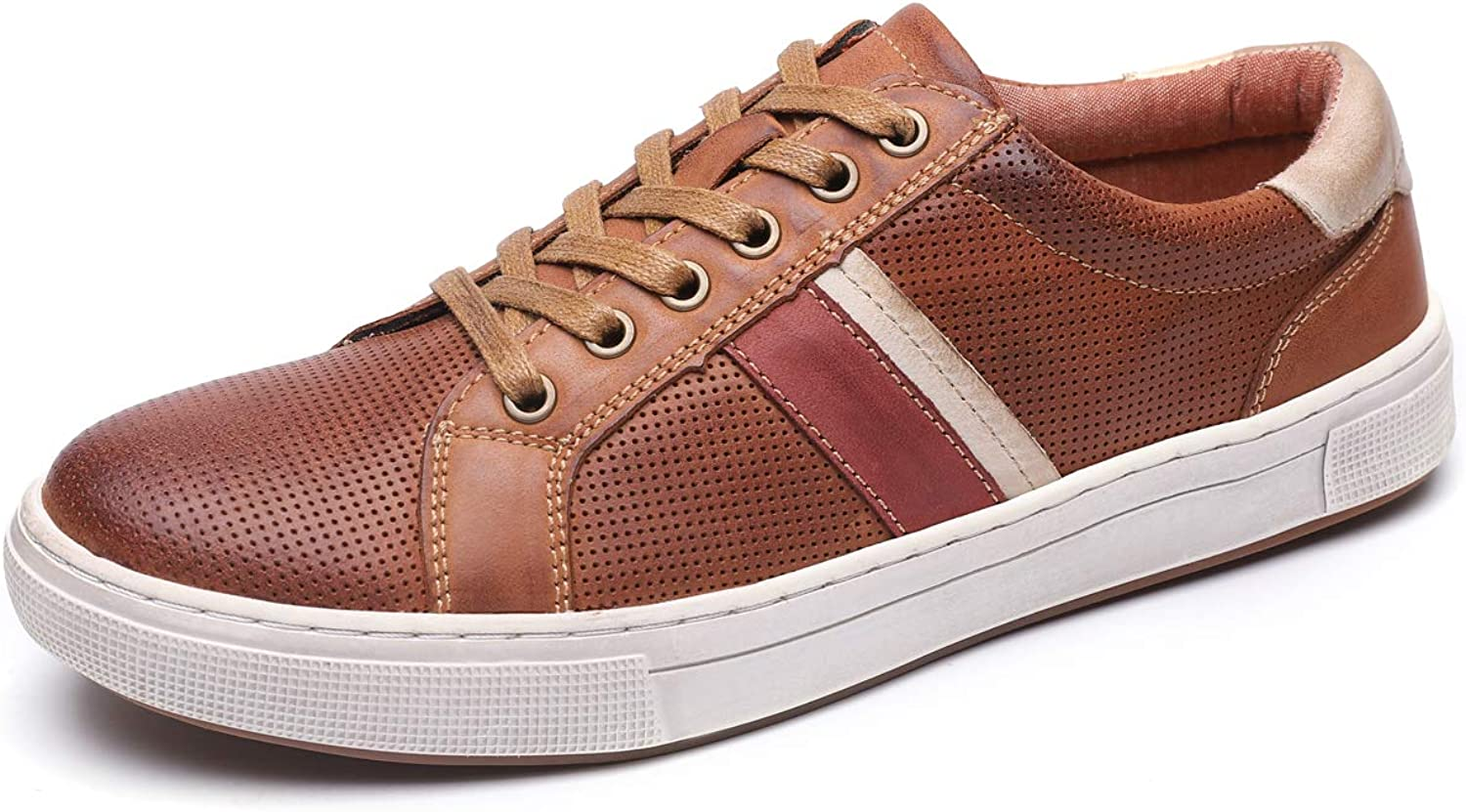 Men's Genuine Leather Fashion Sneakers Casual Clean shoes for Men
