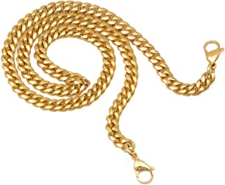 """Fashion Gold Stainless Steel Purse Bag Handle Shoulder Strap Replacement,Handbag Decoration Chain,Bag Accessories Charms 24"""""""