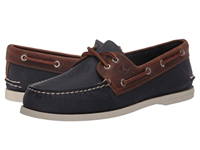 Sperry A/O 2-Eye Wild Horse (Navy/Sonora) Men