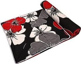Home Spaces Black Floral Design Kids Single Bed Reversible AC Blanket