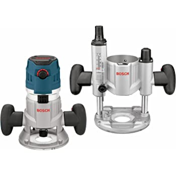 Bosch MRC23EVSK Combination Router - 15 Amp 2.3 Horsepower Corded Variable Speed Combination Plunge & Fixed-Base Router Kit with Hard Case