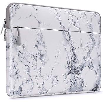 MOSISO Funda Protectora Compatible con 2019 MacBook Pro 16 A2141/15-15.6 MacBook Pro Retina/Surface DELL Lenovo HP Acer ASUS de Portátil, Bolsa Blanda de Estilo Patrón Caja Cubierta, Mármol Blanco