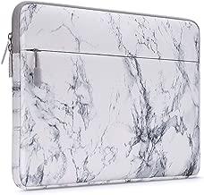 MOSISO Funda Protectora Compatible con 14-15 Pulgadas 2019 2018 2017 2016 MacBook Pro A1990 A1707/DELL Lenovo HP Acer ASUS Samsung de Portátil, Bolsa Blanda de Estilo Mármol Caja Cubierta, Blanco