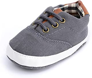Baby Boys Girls Canvas Toddler Sneaker Anti-Slip First...
