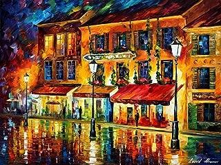 France Fine Art Night Cityscape Painting On Canvas By Leonid Afremov Studio - Paris, Night Montmartre