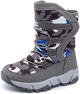 Kids Women Snow Boots Girls Winter Warm Waterproof Outdoor Slip Resistant Cold Weather Unisex Shoes (Toddler/Little Kid/Big Kid)