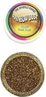 Rainbow dust Non Toxic Jewel Gold Cake decorating Glitter.