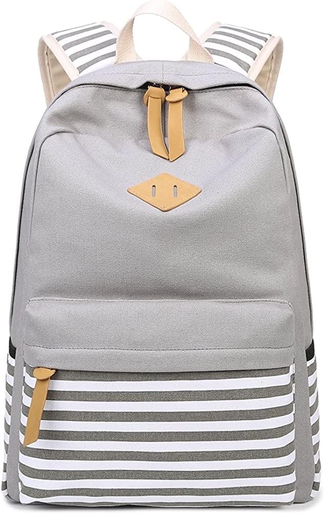 Direct sale of manufacturer Abshoo Causal Canvas Super special price Stripe Backpack For Backpacks Cute Gir Teen