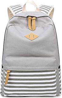 Abshoo Causal Canvas Stripe Backpack Cute Teen Backpacks For Girls School Bag