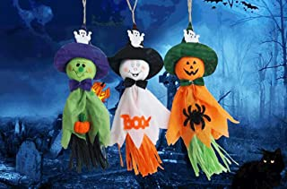 Pack of 6 Colorful Creepy Pumpkin Ghost Spider Paper Hanging Decor for Halloween Thanksgiving Bar Kindergarten Layout Part...