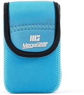 MegaGear MG703 ultralätt neoprenkamerafodral kompatibelt med Panasonic Lumix DC-TZ95, DC-TZ90, DMC-TZ80 – blå