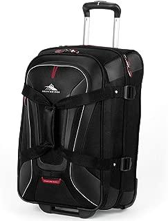 57018-1041 AT7 Rolling Upright Duffel Bag, Black, 22-Inch