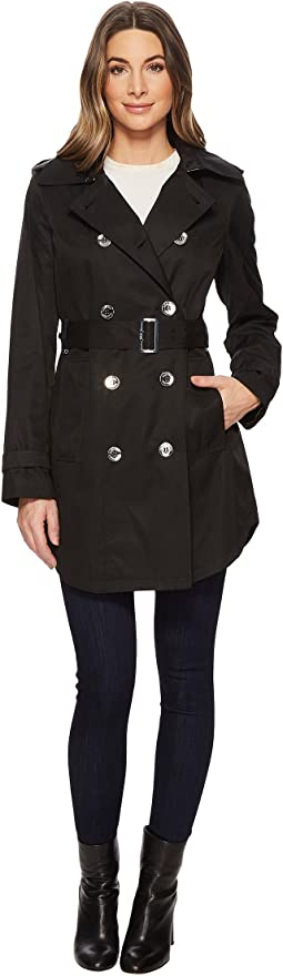 Calvin Klein - Double Breasted Trench with Hi Lo Hem