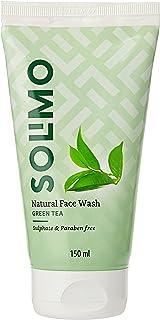 Amazon Brand - Solimo Green Tea Face Wash, 150ml