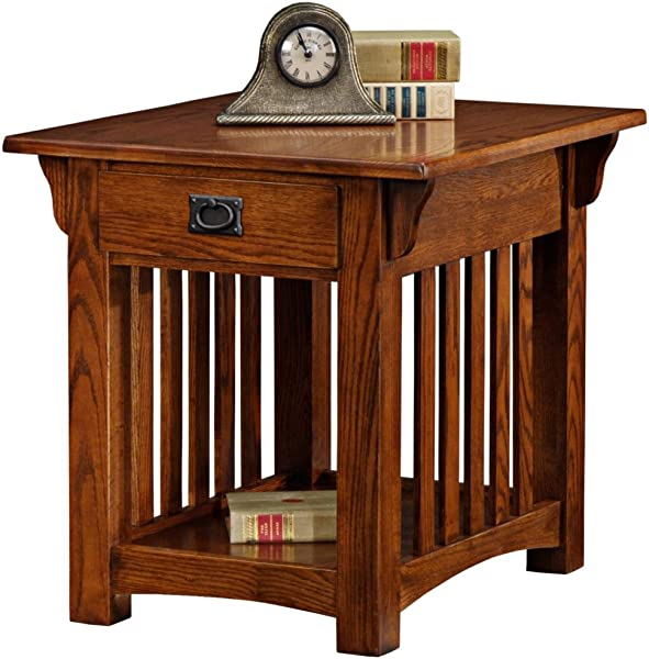Leick Furniture Mission Drawer End Table Solid Ash And Oak Veneers