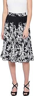 oxolloxo Women's Floral Skirt (Black)