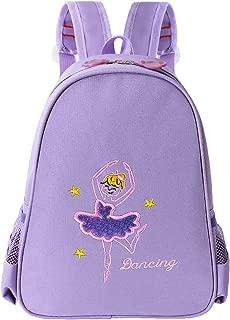 Toddler Backpack Ballet Dance Bag 9 Colors for Girls 2-8 Year (Purple)