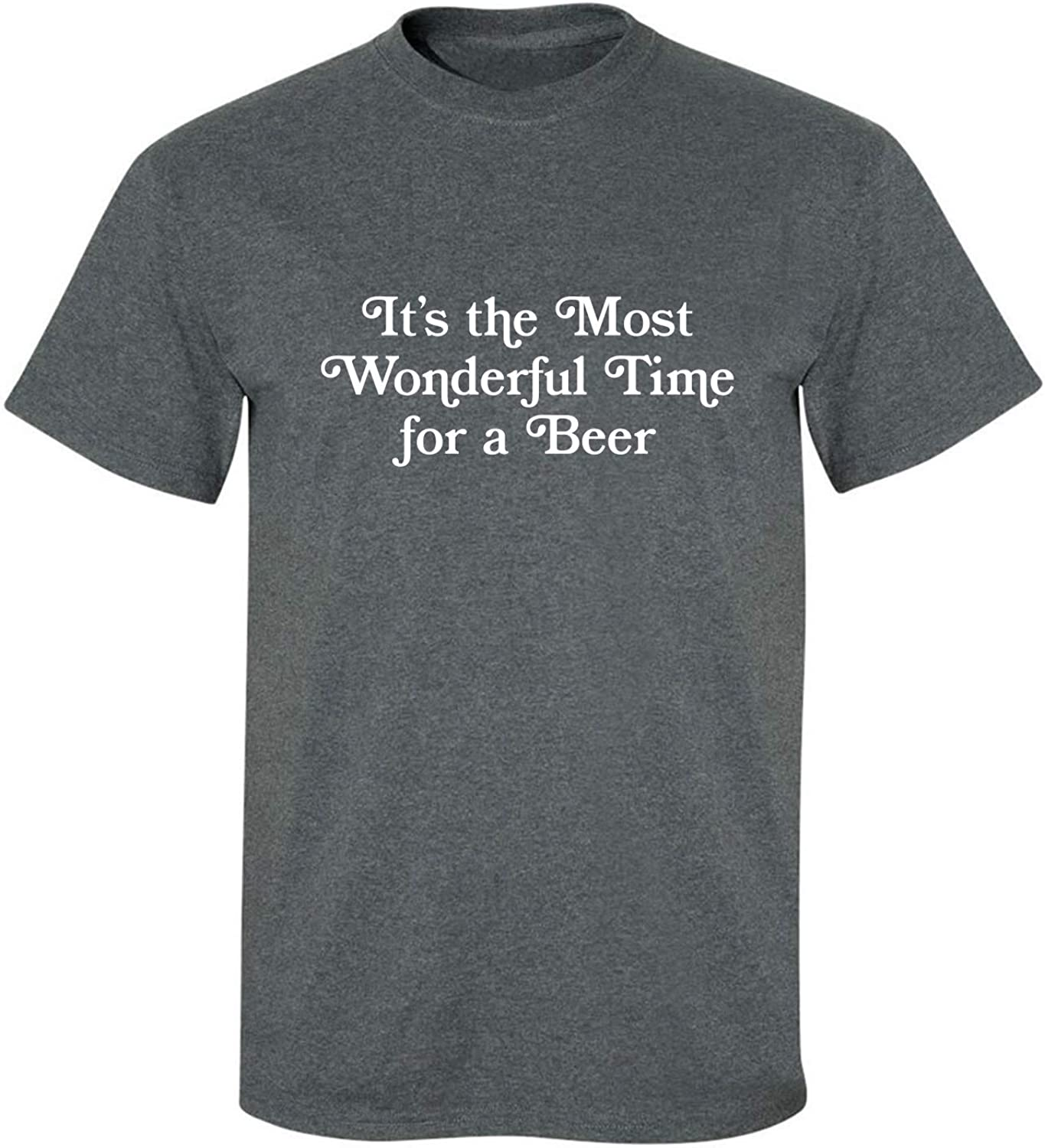It's The Most Wonderful Time Adult T-Shirt in Dark Heather - XXX-Large