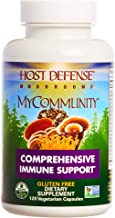 Host Defense - MyCommunity Multi Mushroom Capsules, Comprehensive Support for a Robust and Resilient Immune System with Lion's Mane, Turkey Tails, and Reishi, Non-GMO, Vegan, Organic, 120 Count