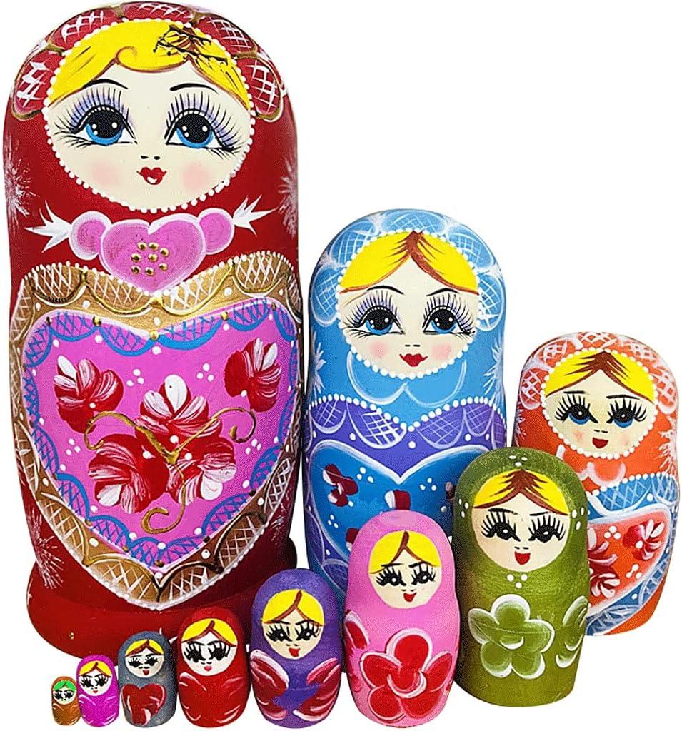 YQguiyrJJ Russian Nesting Dolls Fixed price for sale 10 Ranking TOP12 Matryoshka Traditional Piece