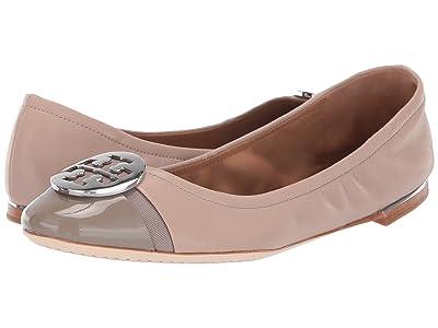 Tory Burch Minnie Cap-Toe Ballet (Light Taupe/Gray Heron) Women