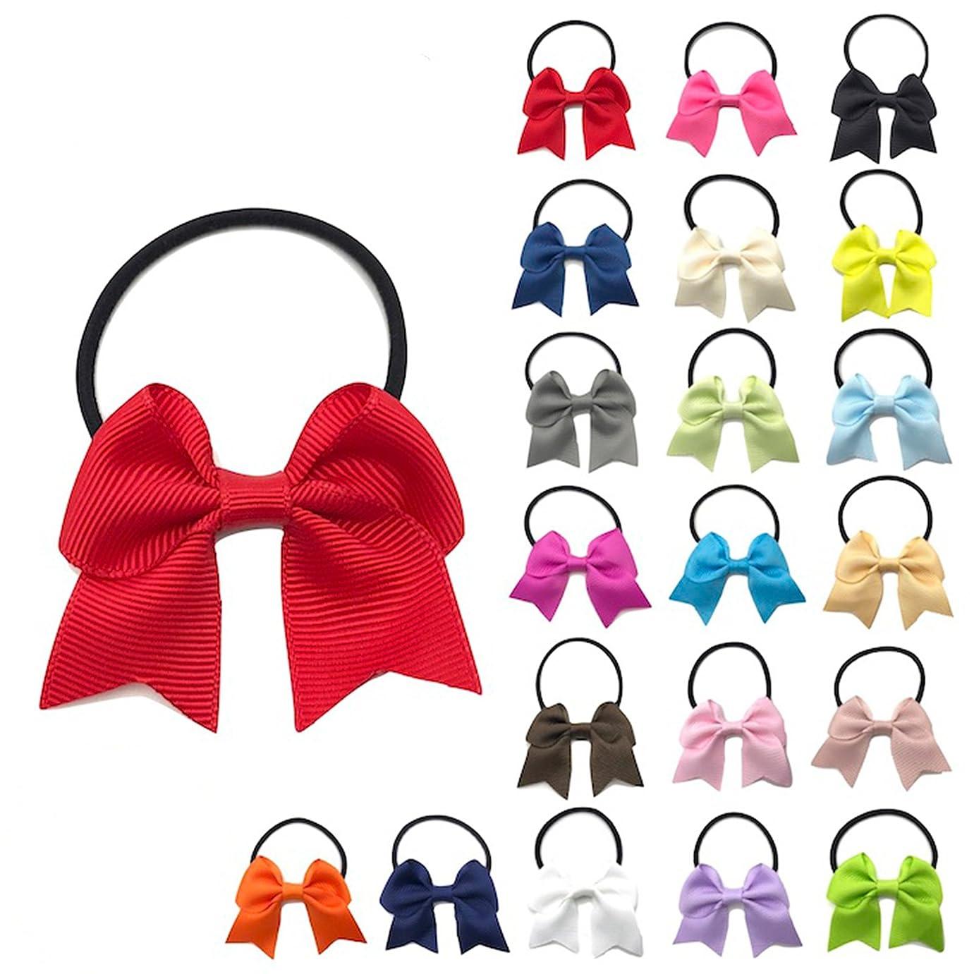 カスケード魔術師ヘッジOujyo 20カラーセット ヘアゴム リボン子ども ヘアゴム ミニ レディース ヘアアクセサリー キッズ 子供 赤 黒 紺 白 ピンク