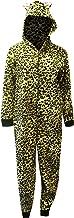 Sweet Treats Women's Jungle Leopard Print Hooded Onesie Footed Pajama