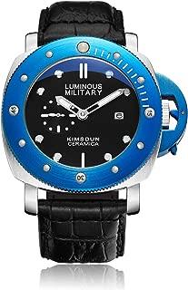 Men's Luxury Sports Watches Luminous Waterproof Quartz Watch Soft Leather Strap Quartz Wristwatch