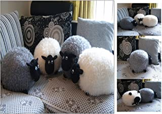Cojín de peluche con forma de oveja (gris)