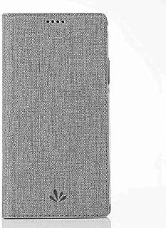 Ycloud Affaires PU Cuir Coque pour Lenovo Moto G4 Plus / G4 (5.5 Pouce) Flip Couverture Portefeuille avec Carte Fentes et Stand Fonction Linge de Maison Style Gris Etui