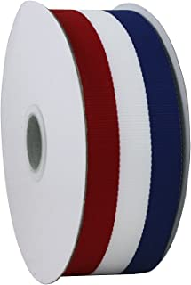Jascotina Red White and Blue Grosgrain Ribbon 1.5