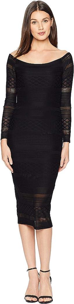 Chevron Lace Dress