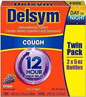 Delsym 12 Hour Cough Suppressant, Grape - 5 oz, Pack of 2