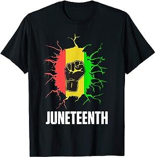 Juneteenth Hand Afro Black African American Flag Pride DA1 T-Shirt