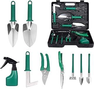 Bilisder 10 en 1 Outils de Jardinage, Ensemble d'outils de Jardinage avec Boîte de Rangement kit de Jardinage pour Les Amo...