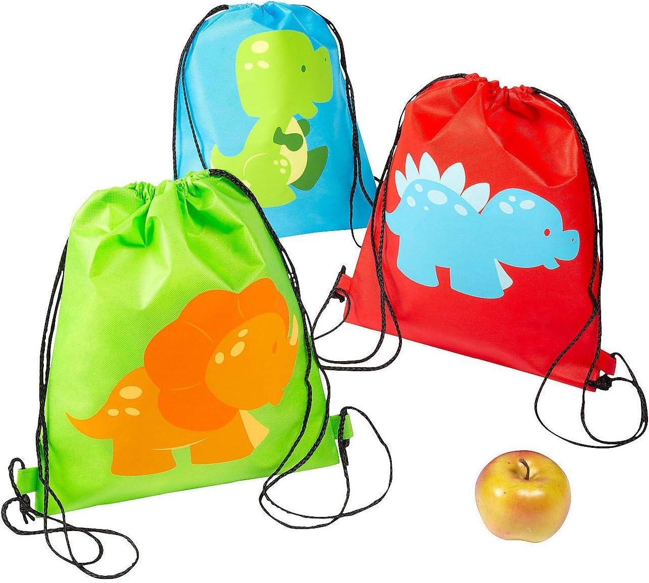 Personalised Dinosaur Cotton Drawstring Storage Birthday Gift Bag Age 1 2 3 4