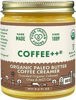 Coffee++ Paleo Butter Coffee Creamer 8.5 fl oz, Certified Organic, Pasture Raised, Lactose Free, Gluten-Free, Non-GMO, Pal...