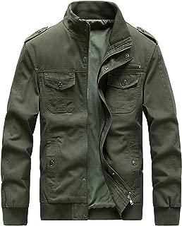 ZooYung Men's Casual Winter Cotton Military Jackets Outdoor Coat Windproof Windbreaker