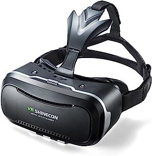 サンワダイレクト 3D VRゴーグル iPhone/Androidスマホ対応 動画視聴 ヘッドマウント レンズ位置調整 400-MEDIVR2