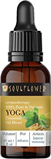Soulflower Yoga Essential Oil Blend for Yoga Sessions, Aromatherapy, Home Diffuser - 100% Pure, Organic Therapeutic Grade,...